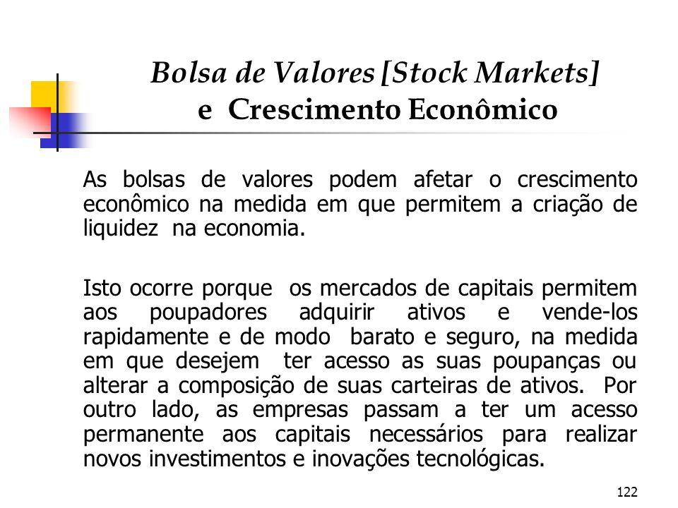 Bolsa de Valores [Stock Markets] e Crescimento Econômico